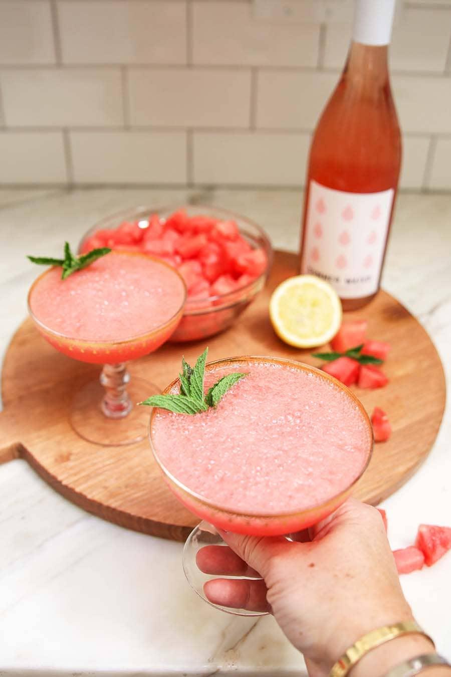 7.Simphome.com Watermelon Frozen Rose Idea