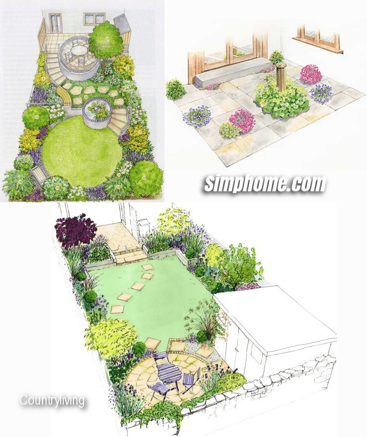 8.Simphome.com Garden Plan for Patio