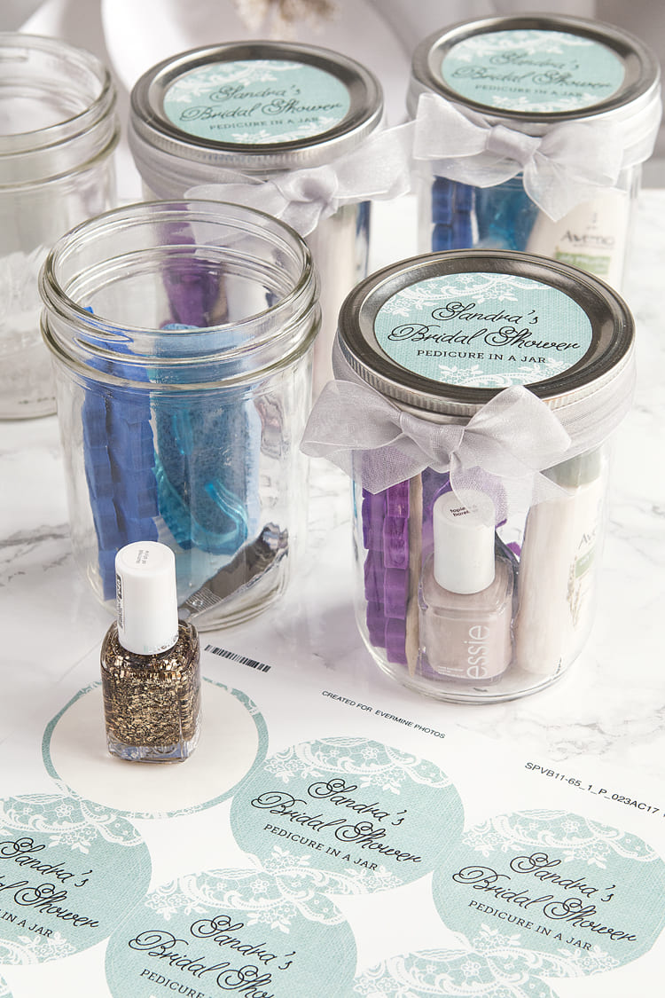 8.Simphome.com Pedicure in a Jar as the Bridal Shower Favours