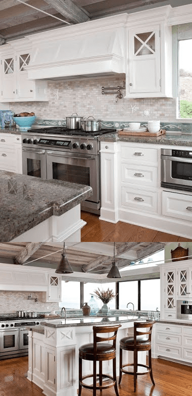 9.Simphome.com Coastal Kitchen Backsplash with Subway Tiles