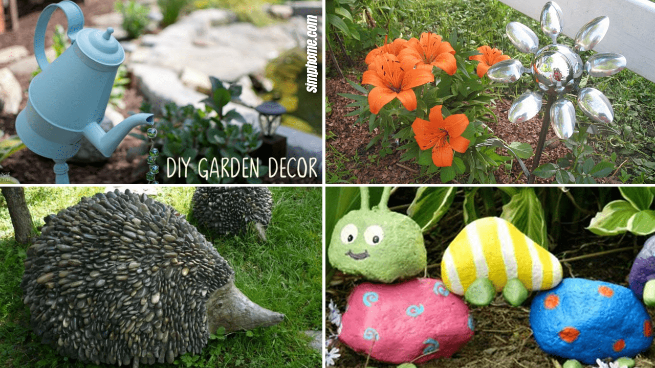 Simphome.com 10 DIY Garden Art Ideas Featured Image