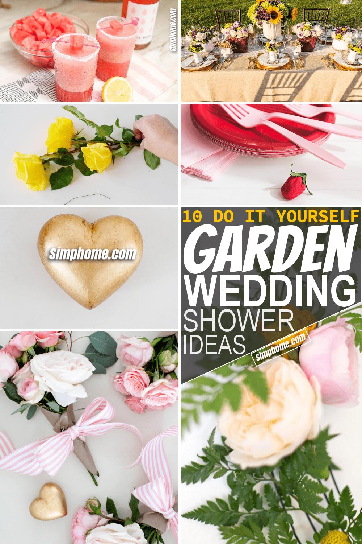 Simphome.com 10 DIY Garden Wedding Shower Ideas Featured Pinterest Image