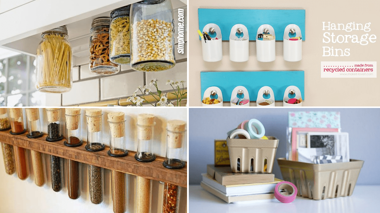 Simphome.com 10 DIY Storage Container Project Ideas Featured