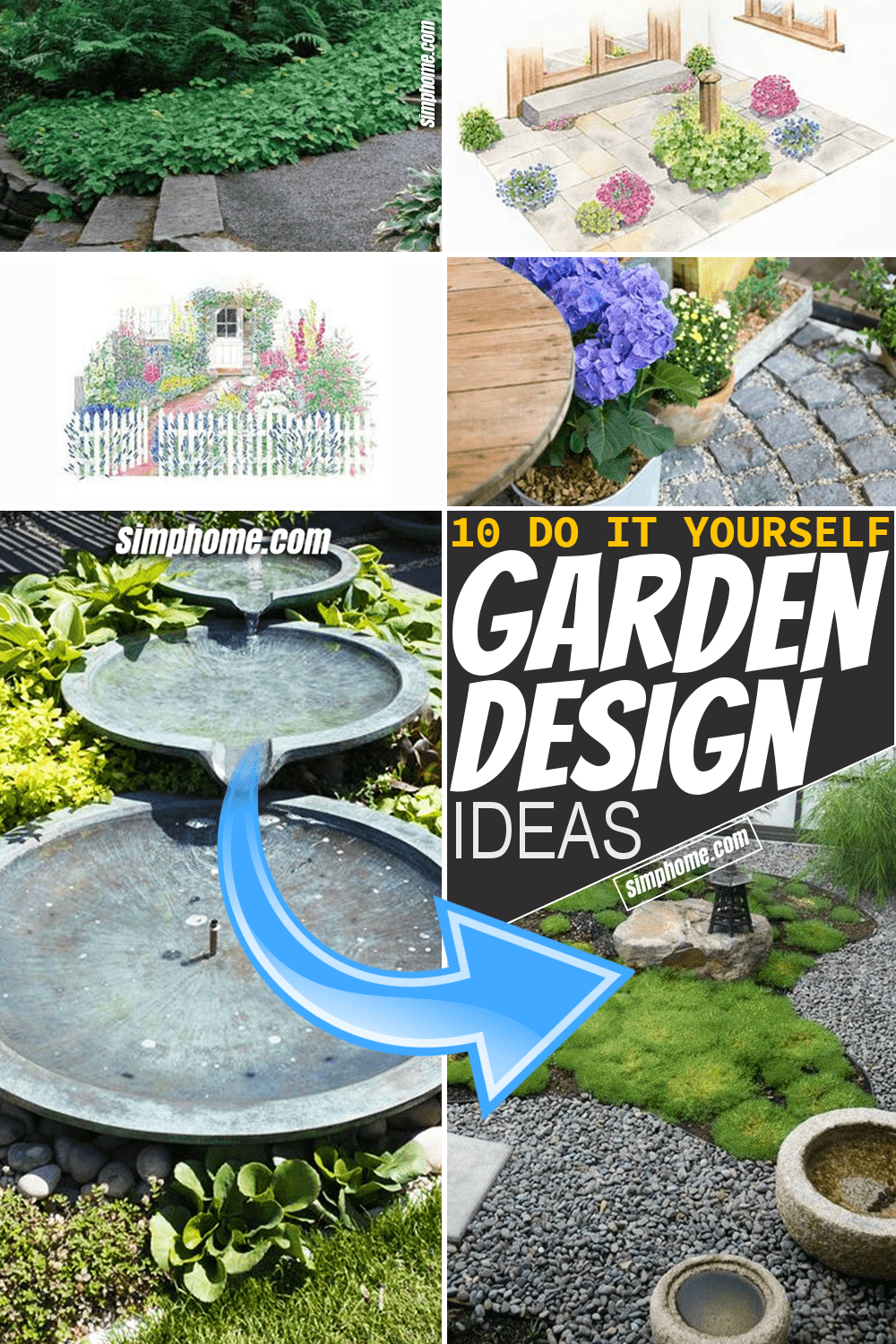 Simphome.com 10 Garden Design Plans Long Pinterest Image