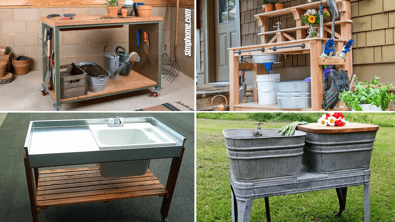 Simphome.com 10 Garden Sink Ideas and DIY Featured Image