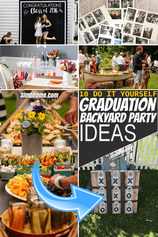 Simphome.com 10 Graduation Backyard Party Ideas Pinterest Image