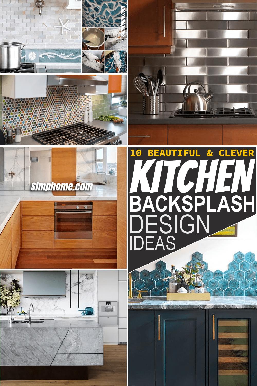 Simphome.com 10 Kitchen Backsplash Design Ideas Featured Pinterest
