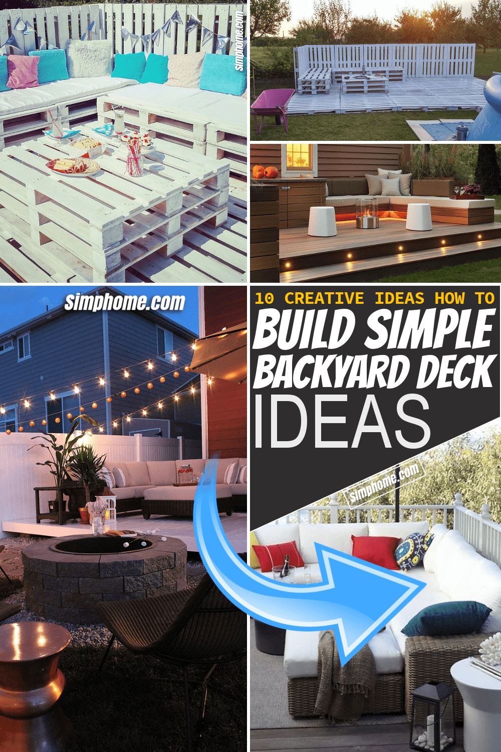 Simphome.com 10 Simple DIY Backyard Deck Ideas Pinterest Featured Image