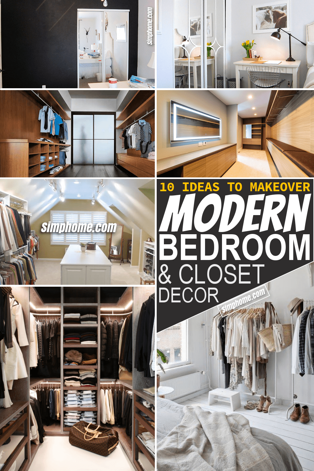 Simphome.com 10 makeover modern bedroom closet ideas Featured Pinterest
