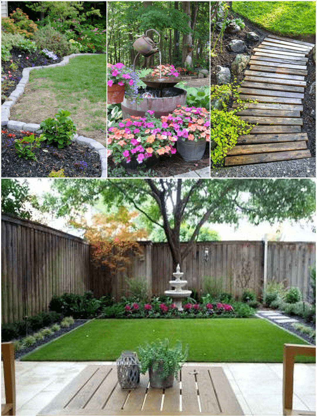 Simphome.com A beautiful backyard landscape design for outdoor patio decorating