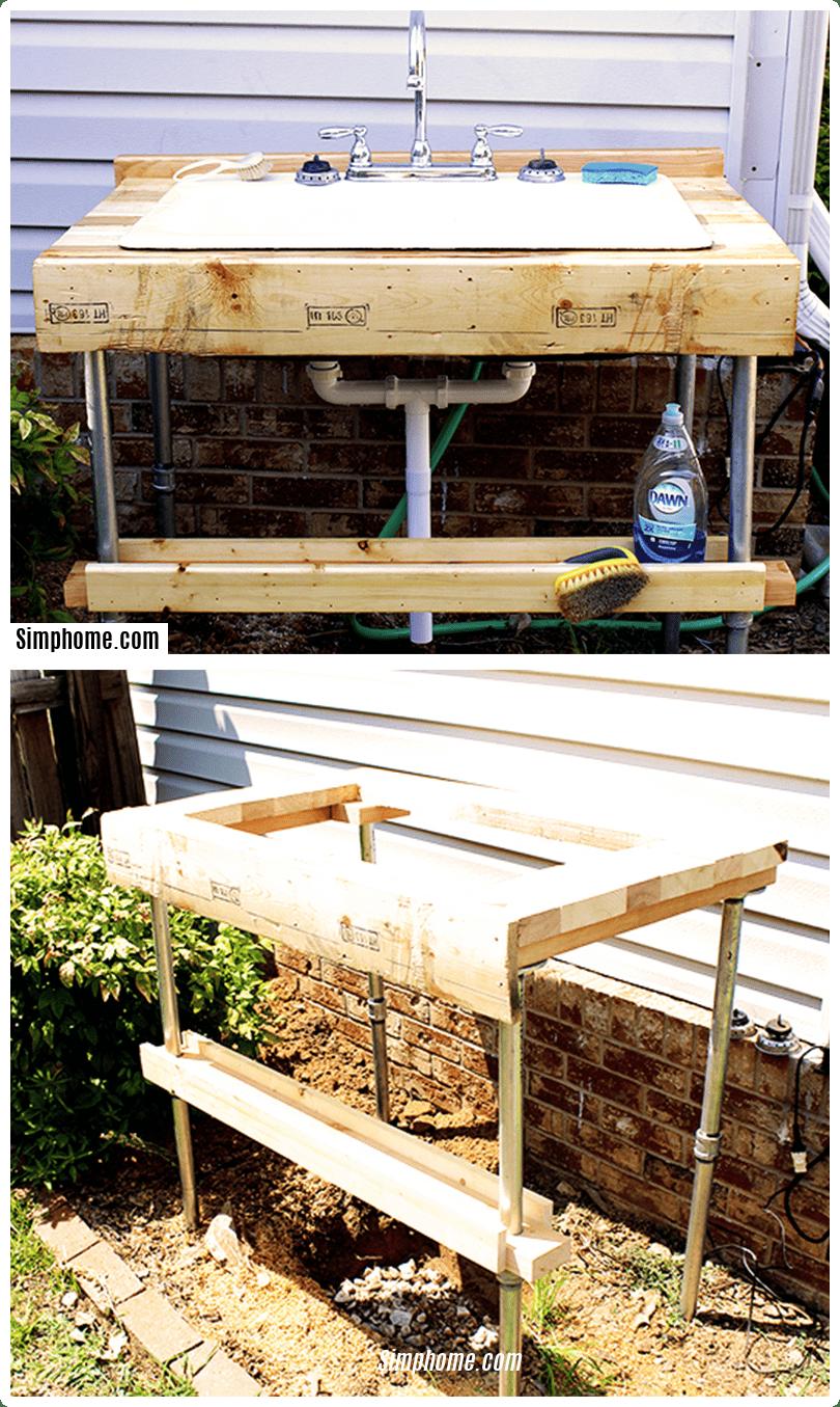 Simphome.com easy to build outdoor garden sink for 2020 2021 2022
