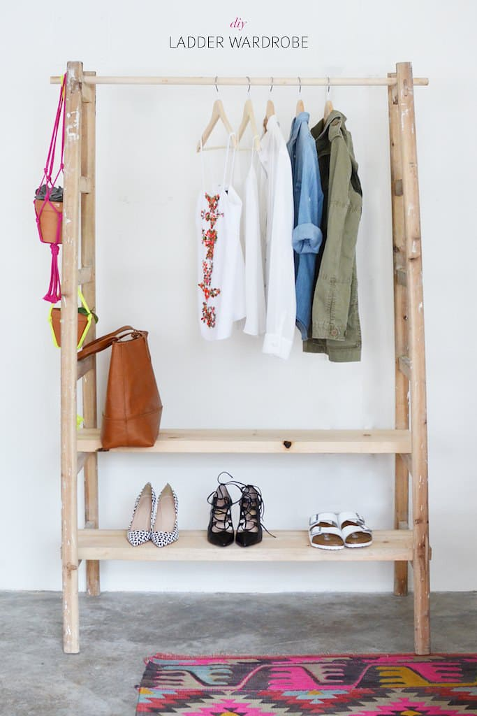 1.Simphome.com A Ladder Wardrobe Project idea 1