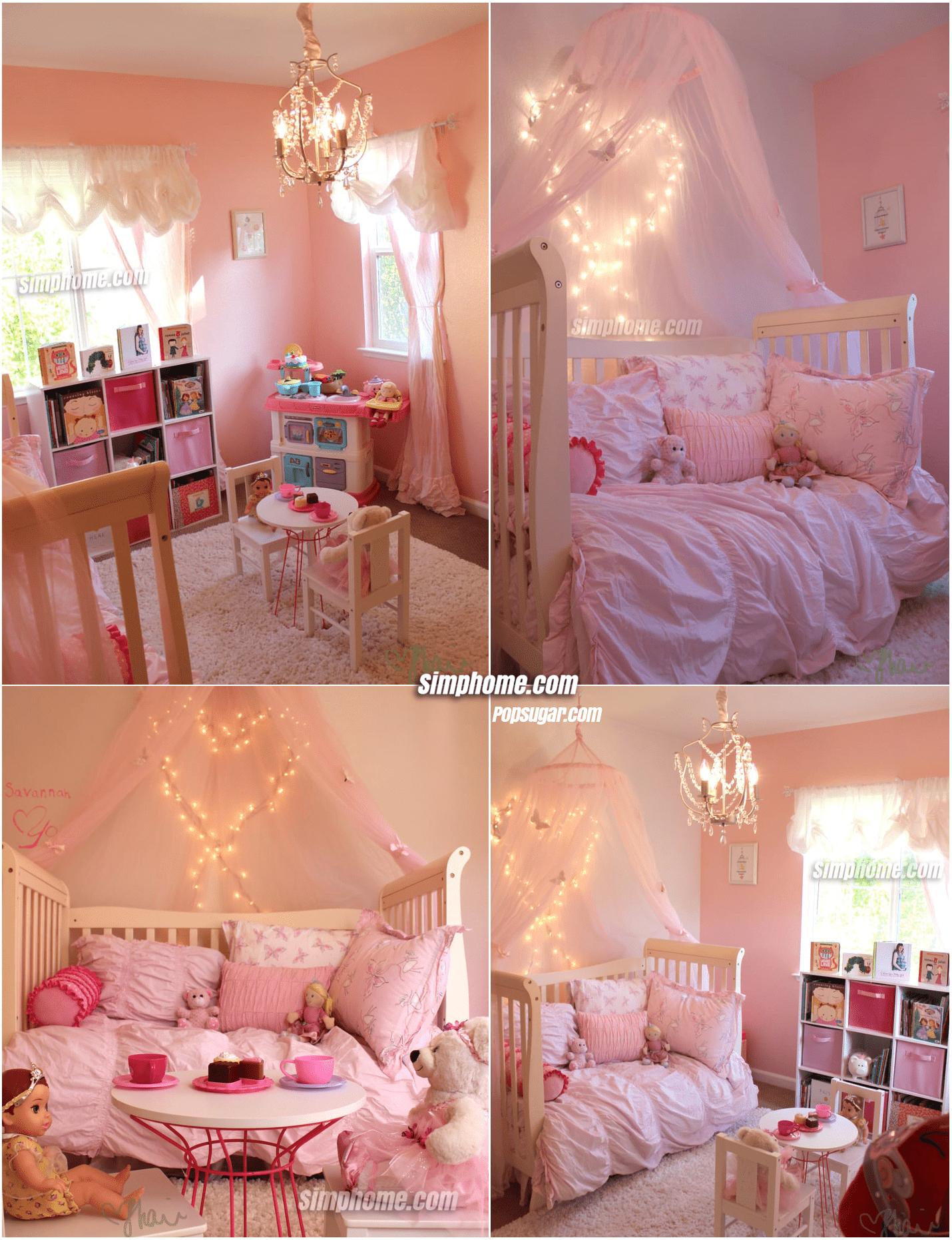 2.Simphome.com Chic Pink Girls Bedroom