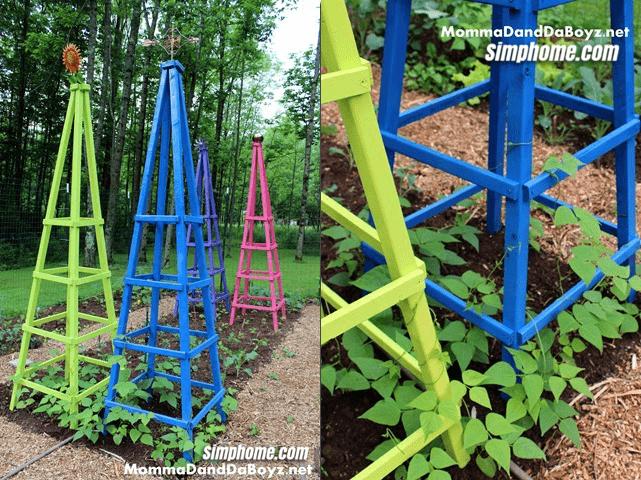 4.Simphome.com Colorful Obelisk Trellis
