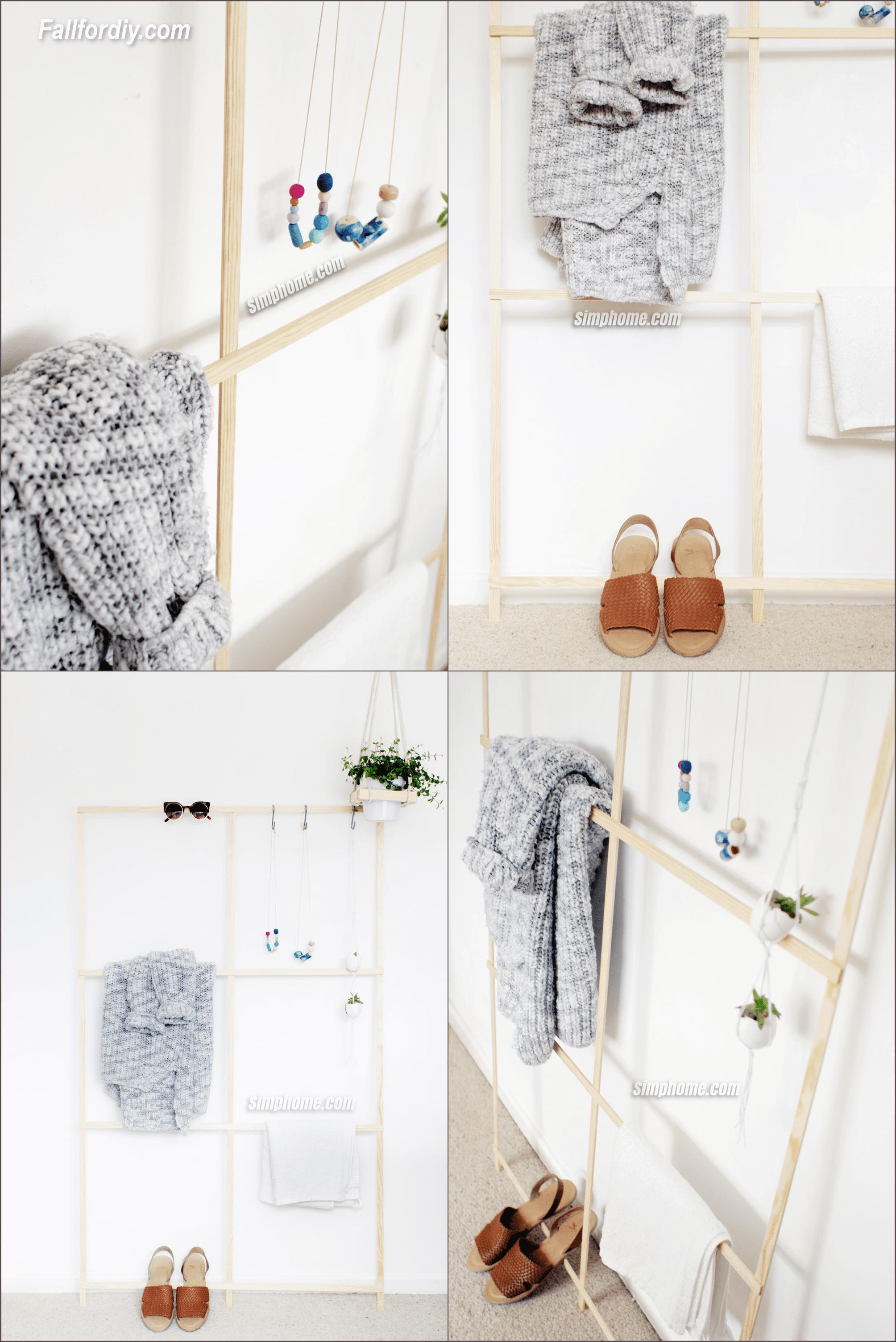 5.Simphome.com DIY Trellis Clothes Rack