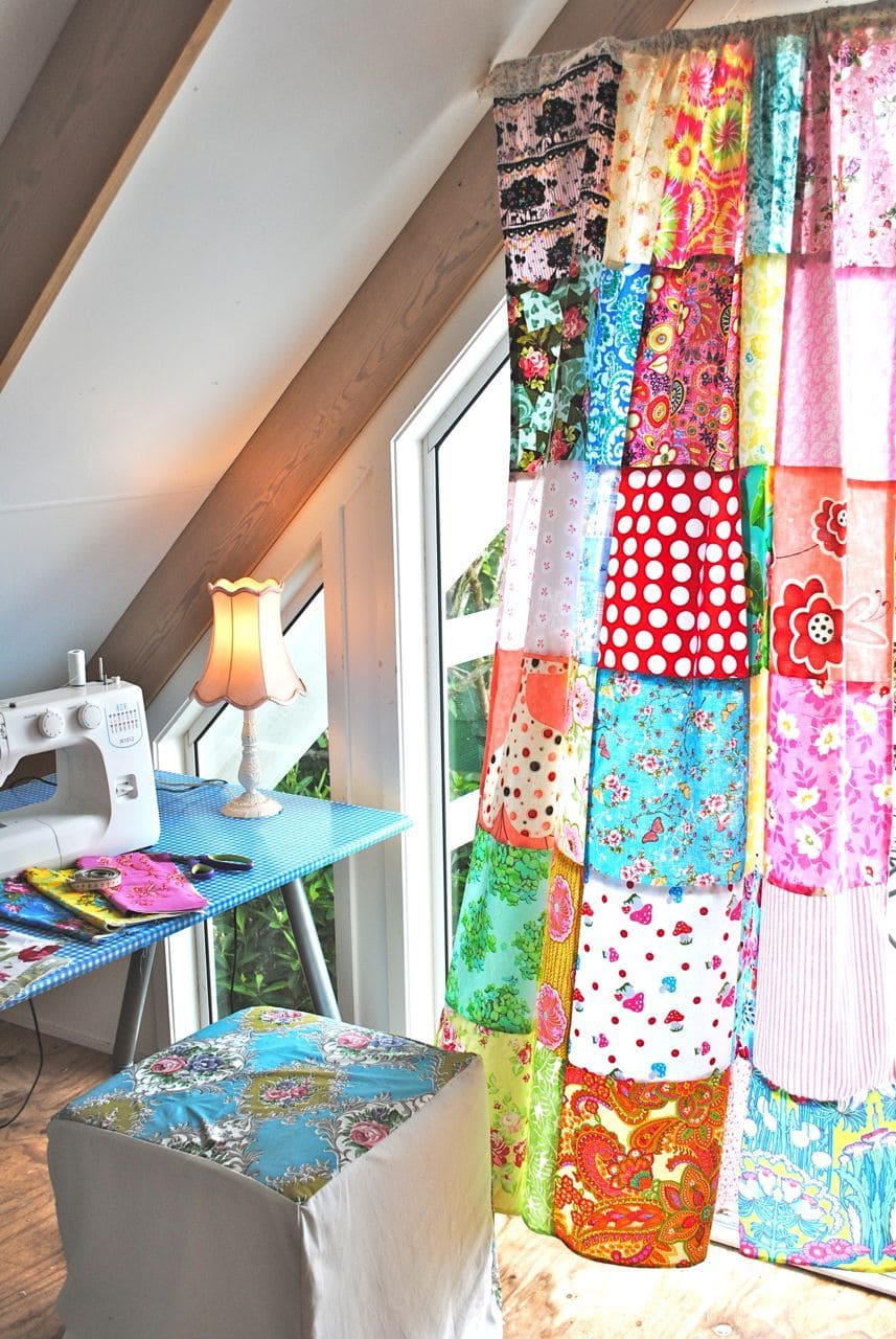 5.Simphome.com Patchwork Curtain