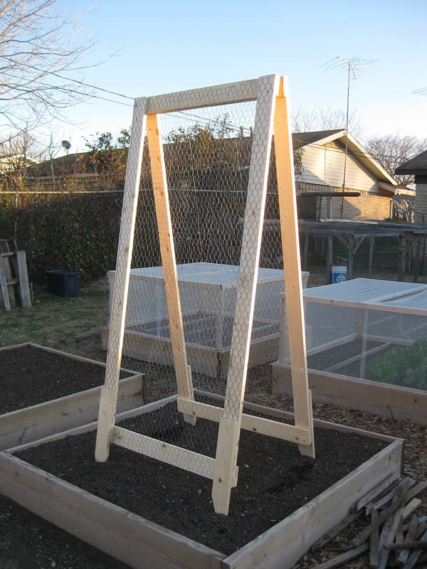 6.Simphome.com A Frame Vegetable Trellis