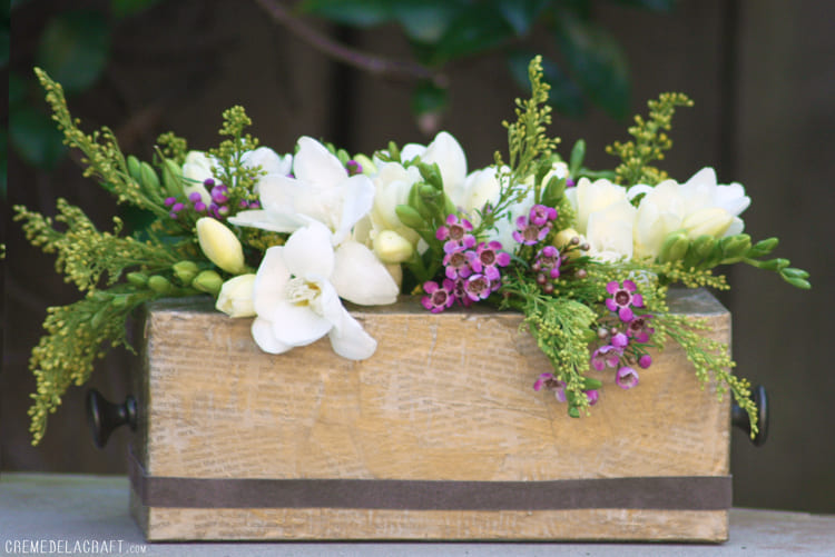 6.Simphome.com Tissue Box Flower Vase
