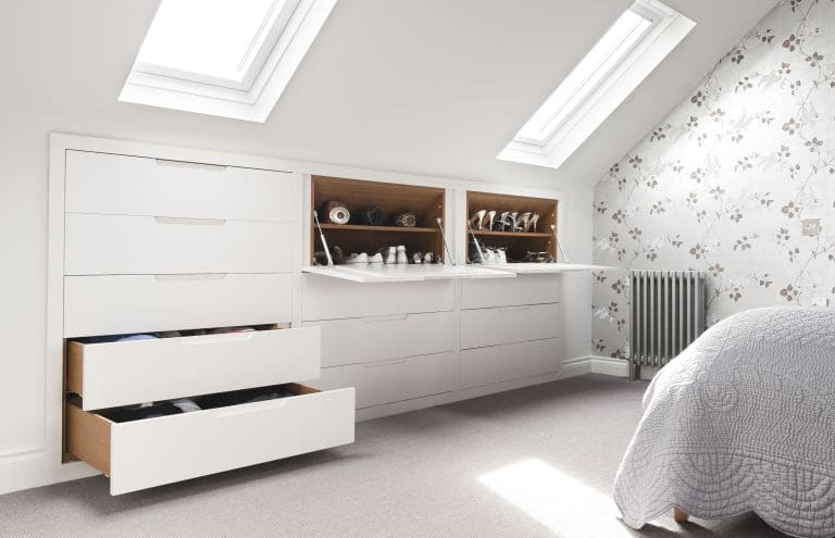 8.Simphome.com Built In Drawers and Tables under the Eave