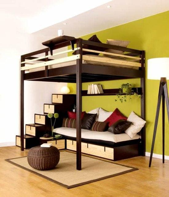 8.Simphome.com Opt for Loft Bed