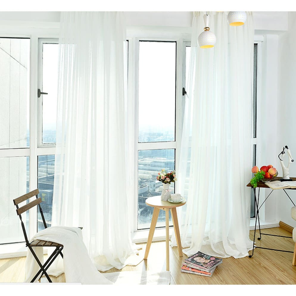 9.Simphome.com Sheer White Curtains
