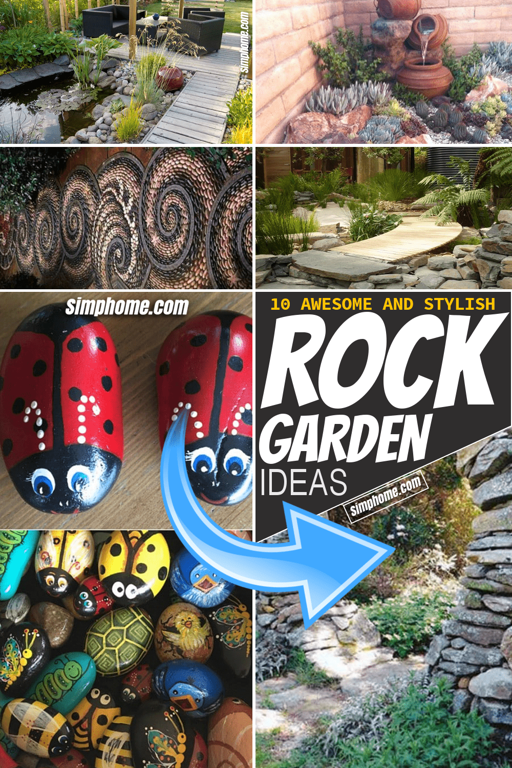Simphome.com 10 Awesome and Stylish Rock Garden Ideas Pinterest Featured Image