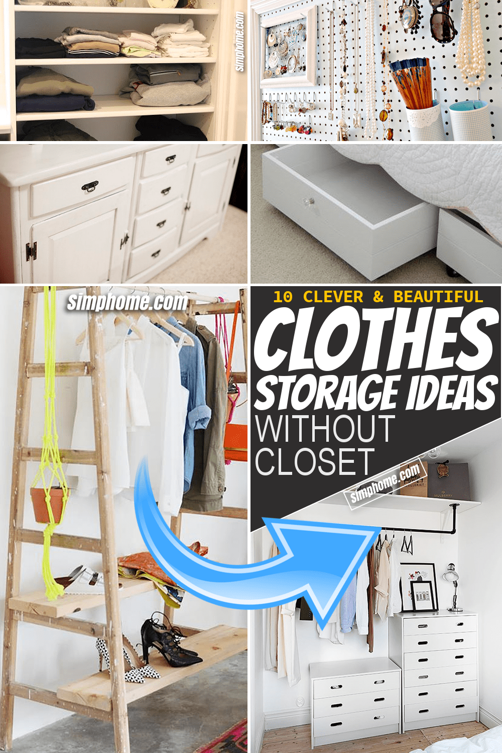 Simphome.com 10 Clothes Storage Idea that Would Work Even without Closet Featured Image Long