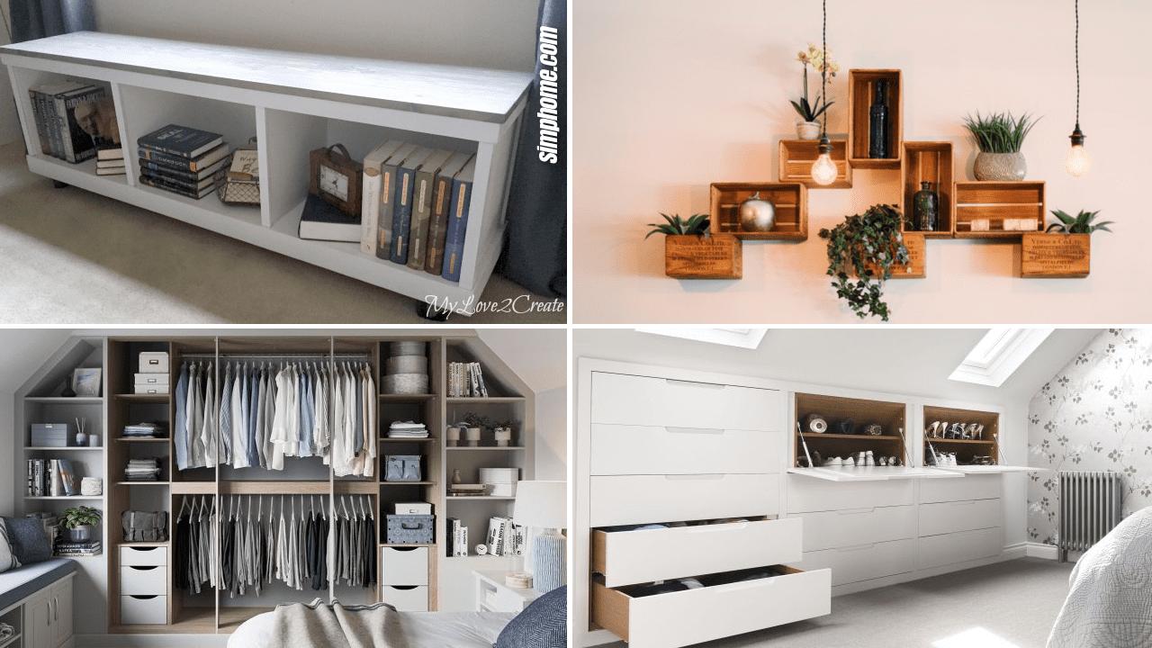 Simphome.com 10 Small Loft Bedroom Storage Ideas Featured Image