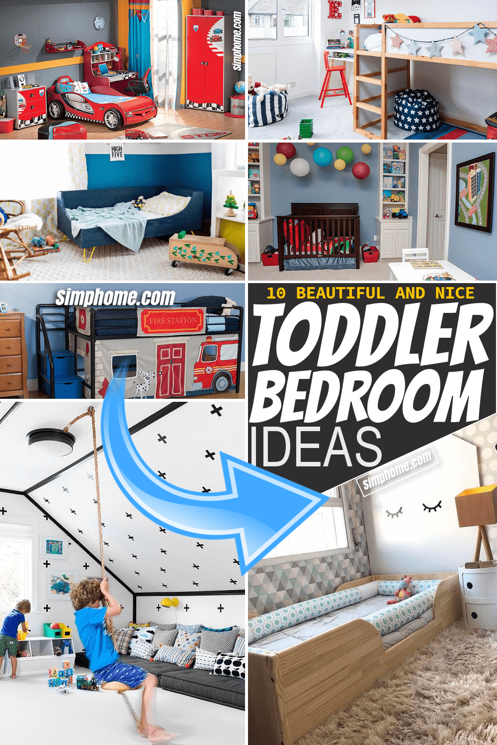 Simphome.com 10 Toddler Bedroom Ideas Featured Pinterest Image