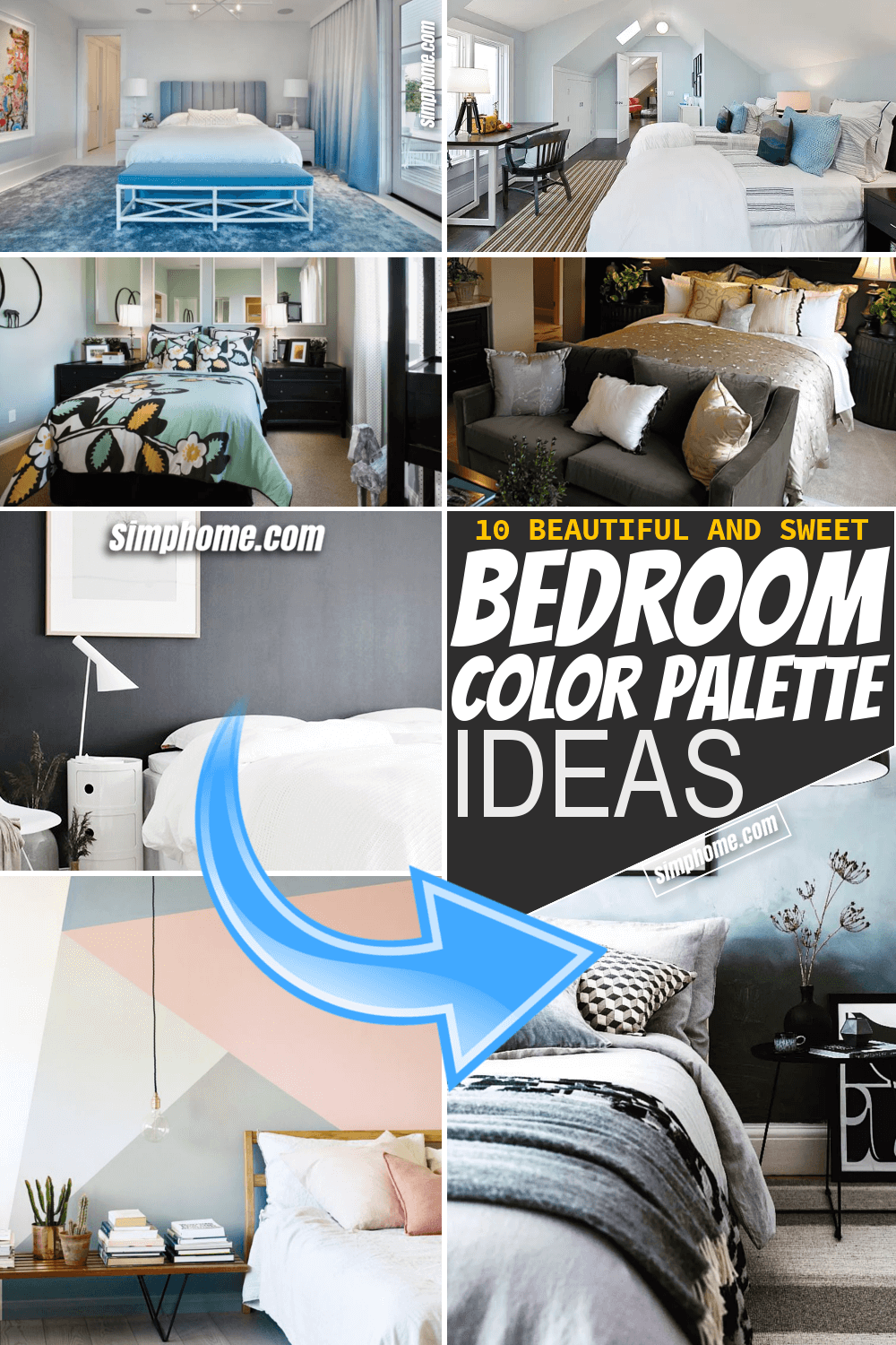 Simphome.com 10 bedroom color palette ideas
