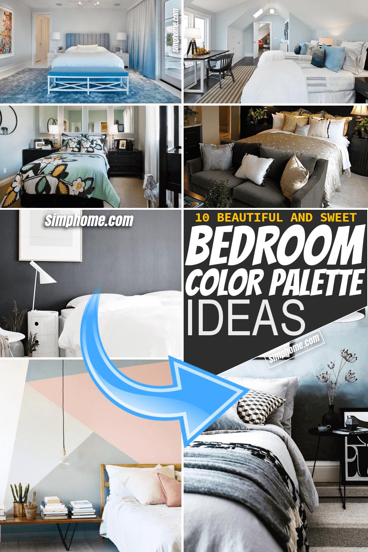Simphome.com 10 bedroom color palette ideas