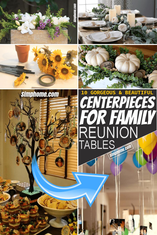 Simphome.com 10 centerpieces for family reunion table Featured Pinterest Image