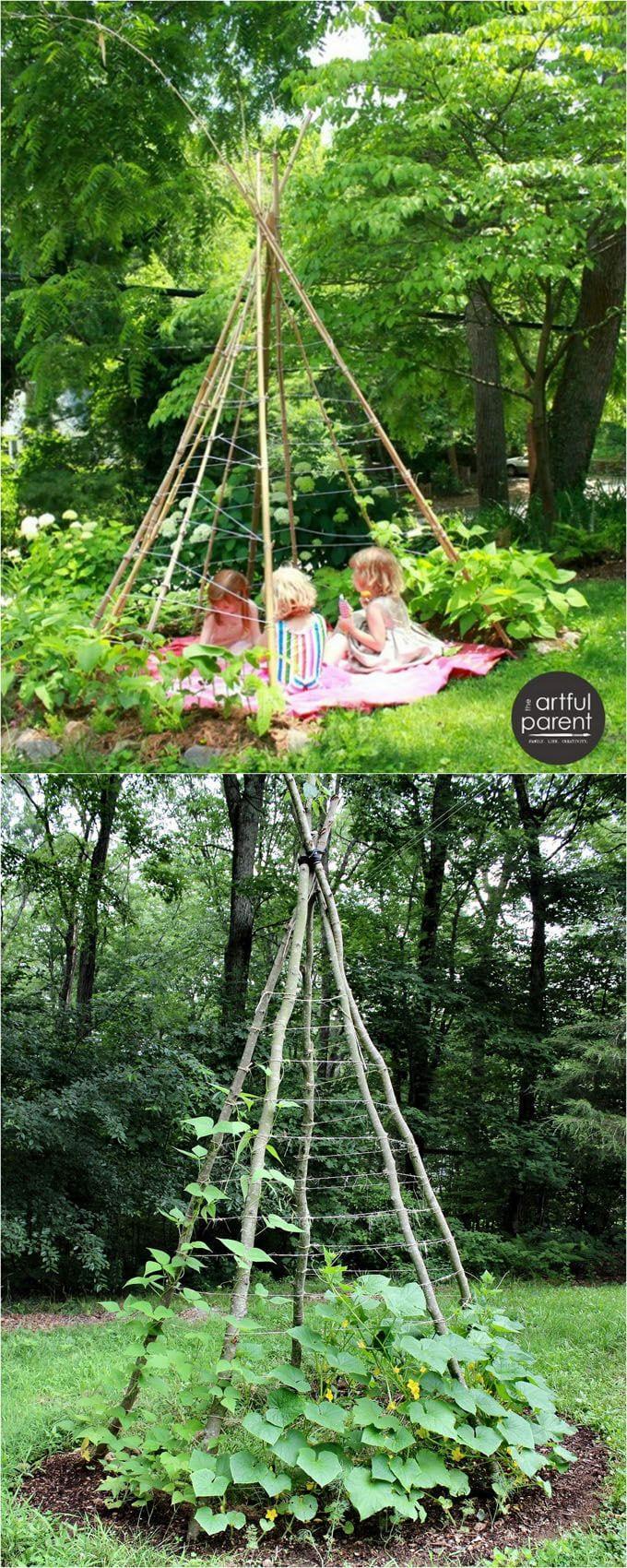 Simphome.com 19 easy diy garden trellis ideas vertical growing structures for 2020 2021