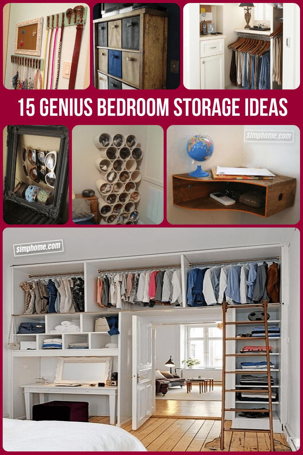 Simphome.com Clever Bedroom Storage Ideas