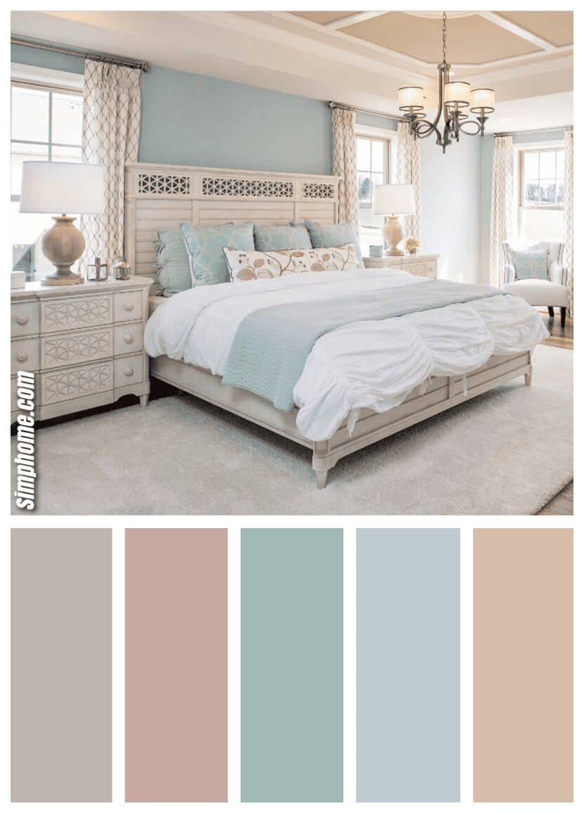 Simphome.com One of the best bedroom color scheme ideas and designs for 2020