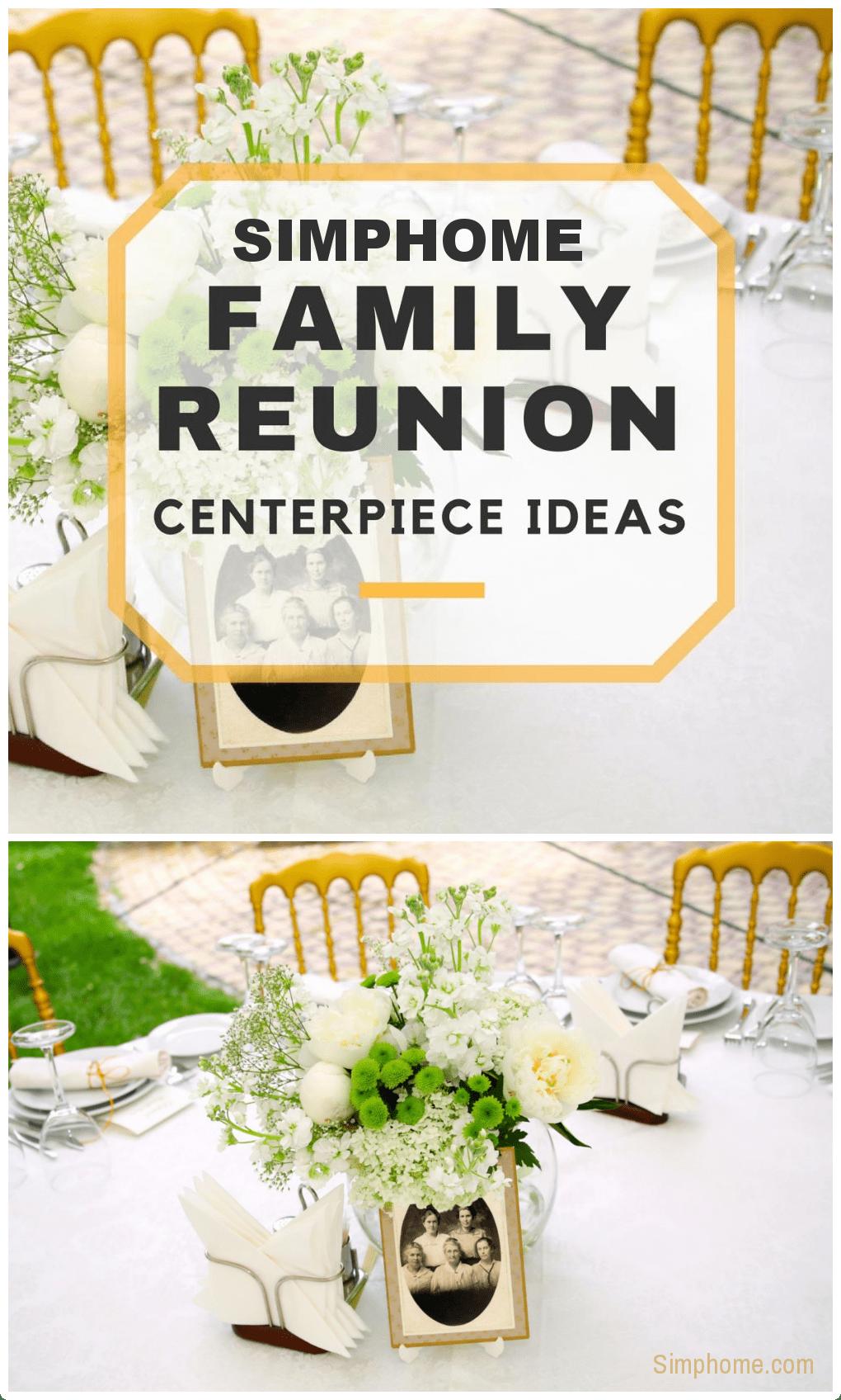 Simphome.com family reunion centerpieces table decorations for 2020 2021 2022