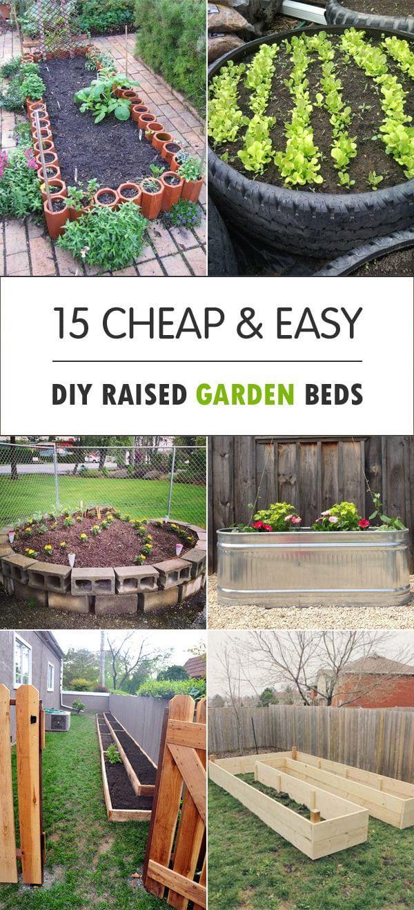 15 cheap easy diy raised garden beds backyard bliss pinterest regarding 10 cheap flower garden ideas most of the brilliant and also stunning