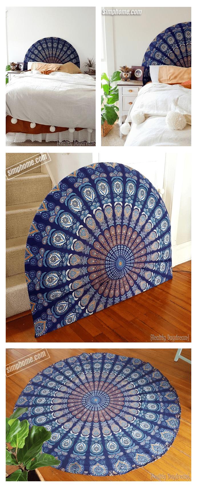 4.Simphome.com Beautiful DIY Upholstered Headboard Project idea