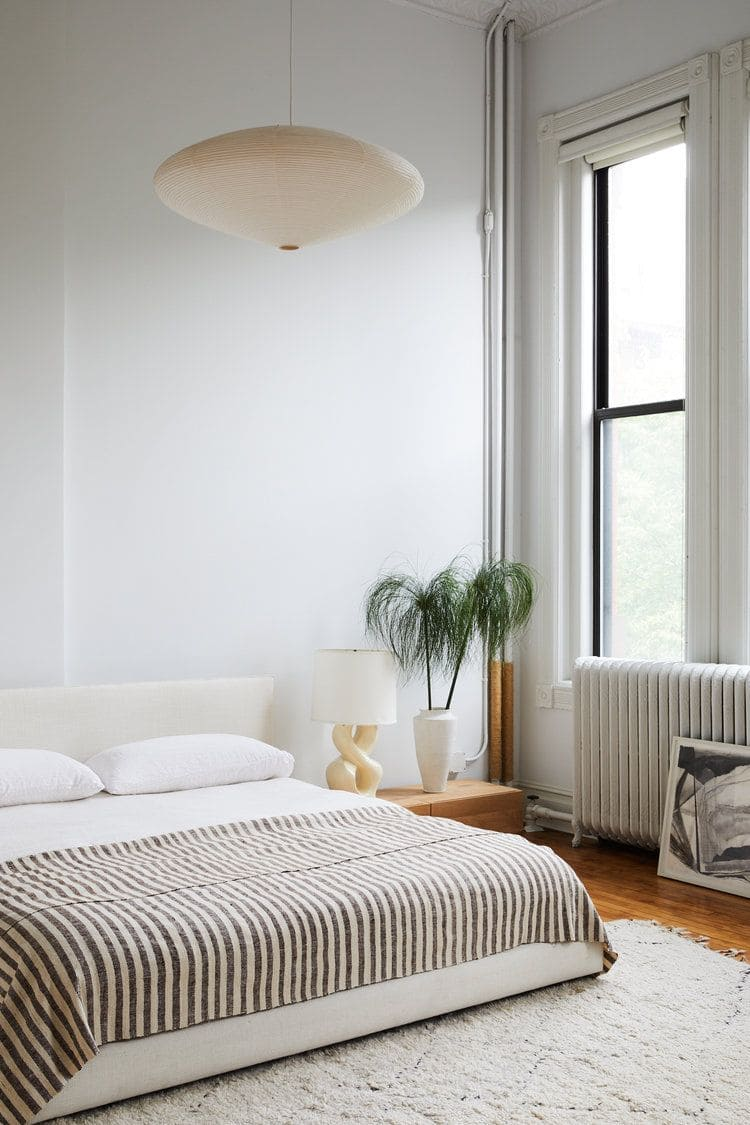 6. Bohemian Style with No Bed Frame