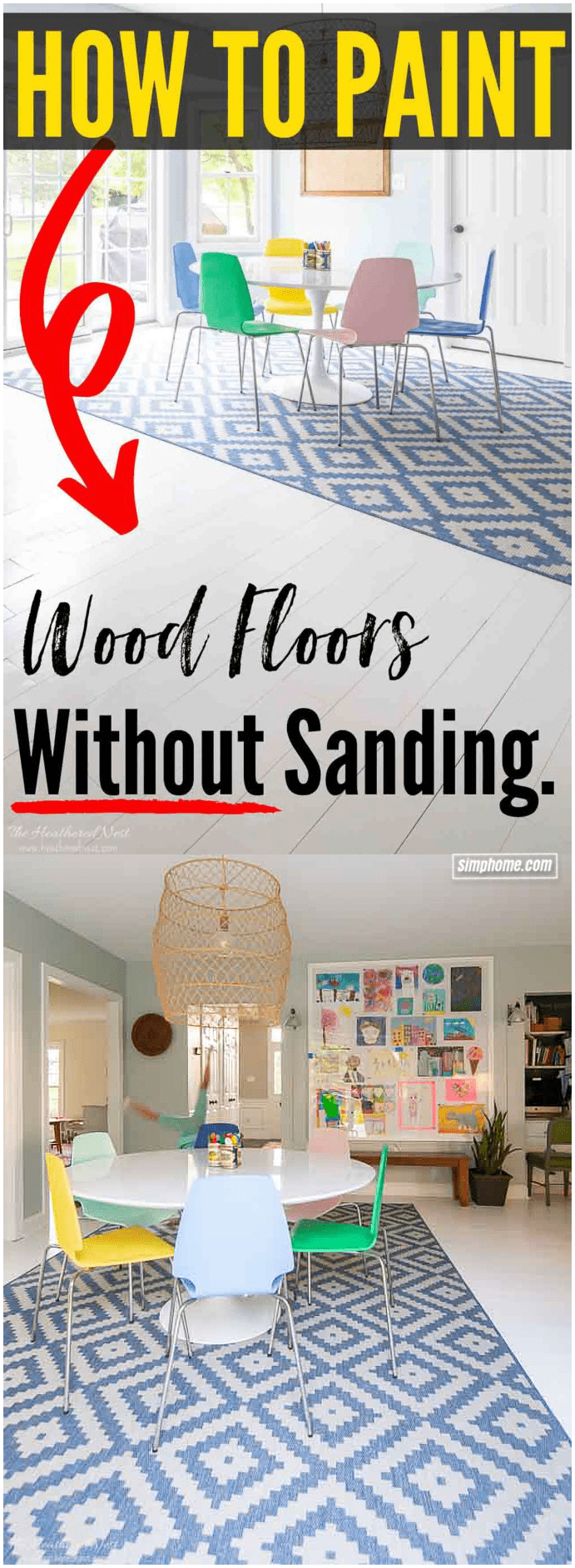 8.Simphome.com Paint Your Existing Wood Floor