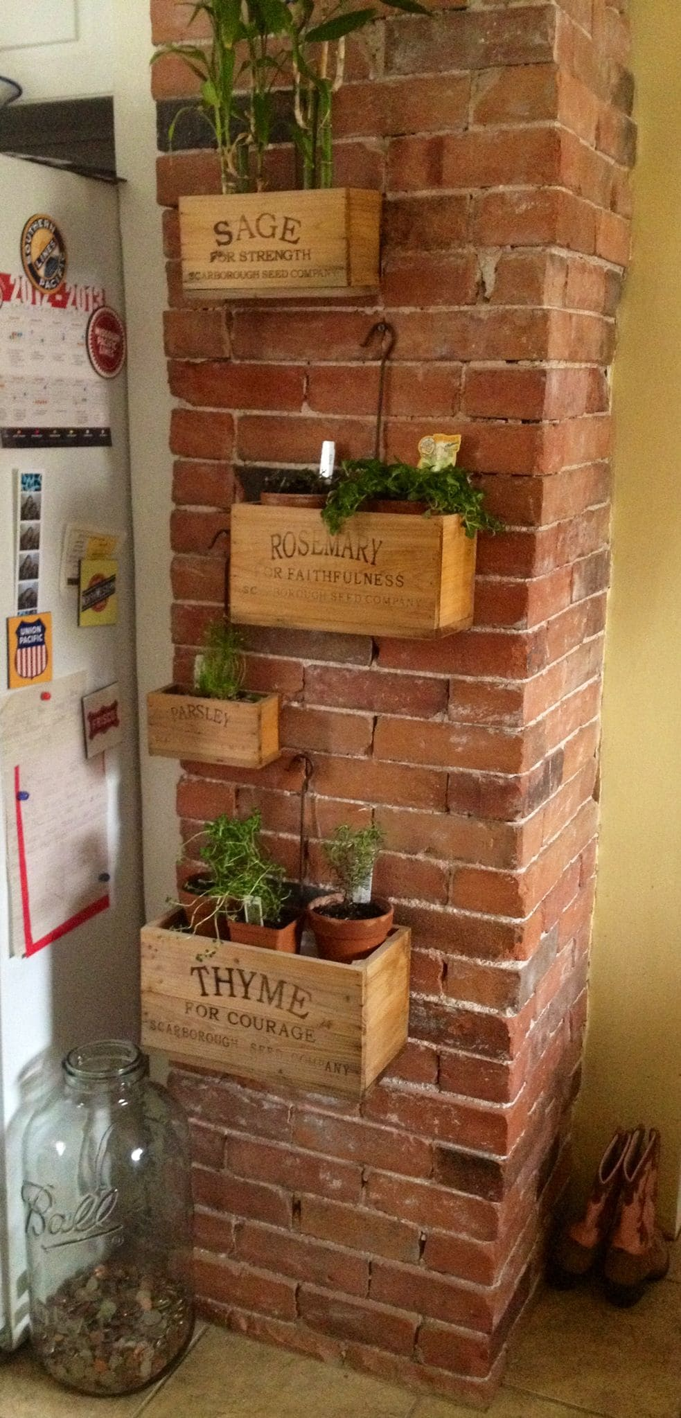 8.Simphome.com Wooden Crate Planter 1