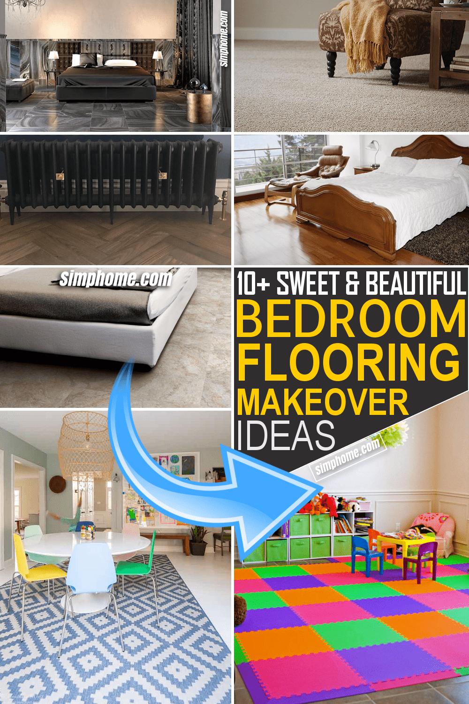 Simphome.com 10 Bedroom Flooring Makeover Ideas Featured Pinterest
