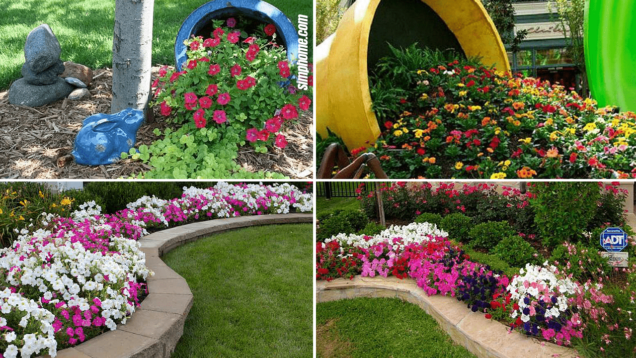 Simphome.com 10 Cheap Flower Garden Ideas