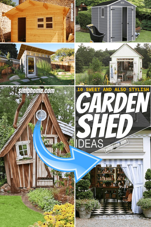 Simphome.com 10 Garden Shed Ideas Pinterest Featured Image