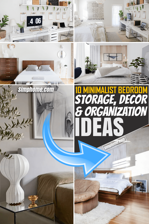 Simphome.com 10 Minimalist Bedroom Storage Décor and Organization Ideas Featured Image Pinterest