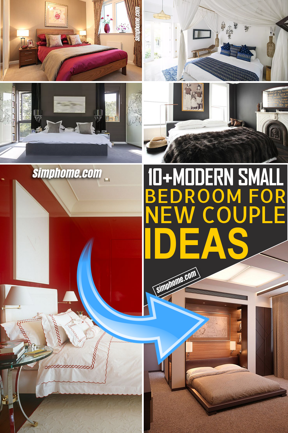 Simphome.com 10 Modern Small Bedroom ideas For New Couples