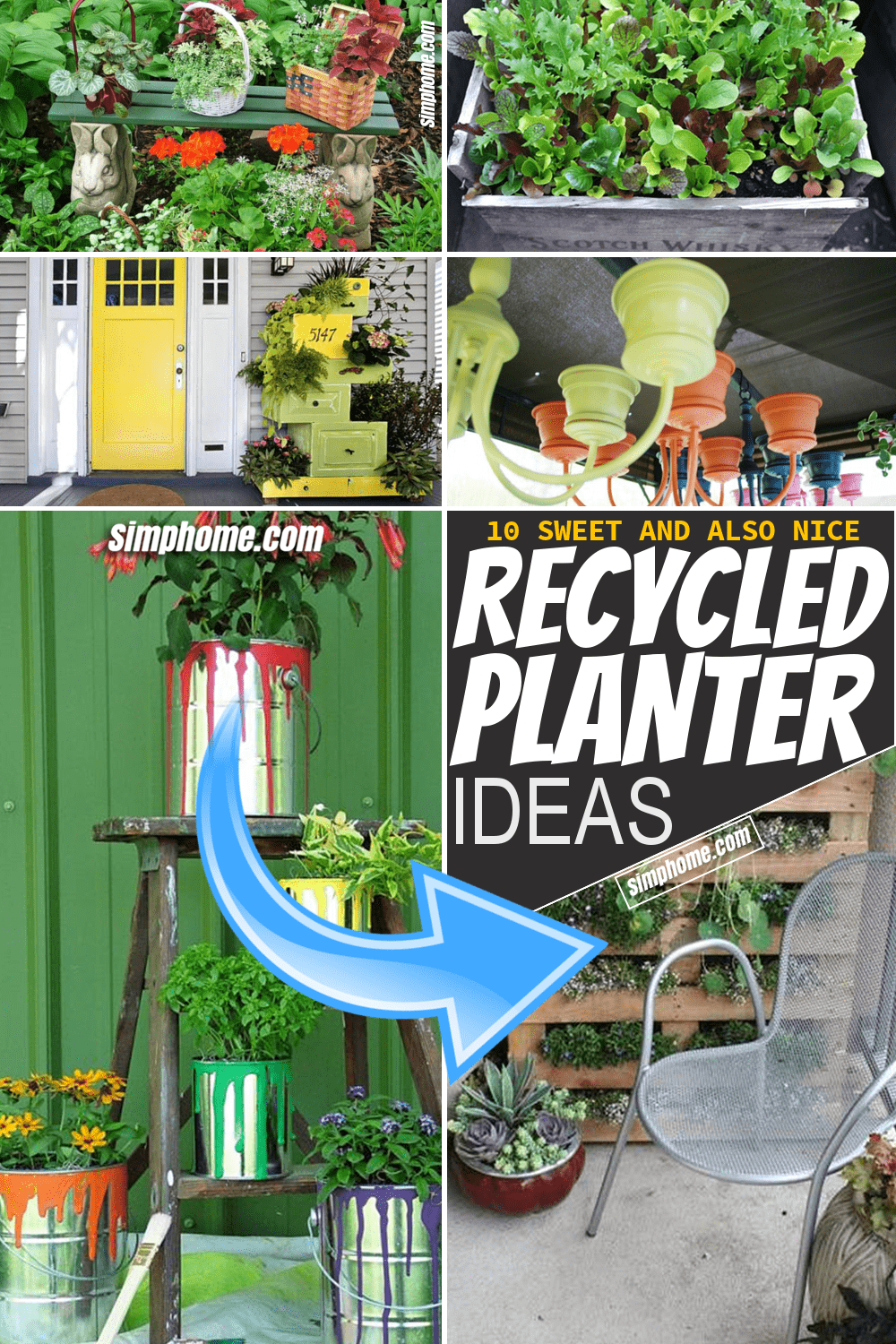 Simphome.com 10 Recycled Planter Ideas for Garden