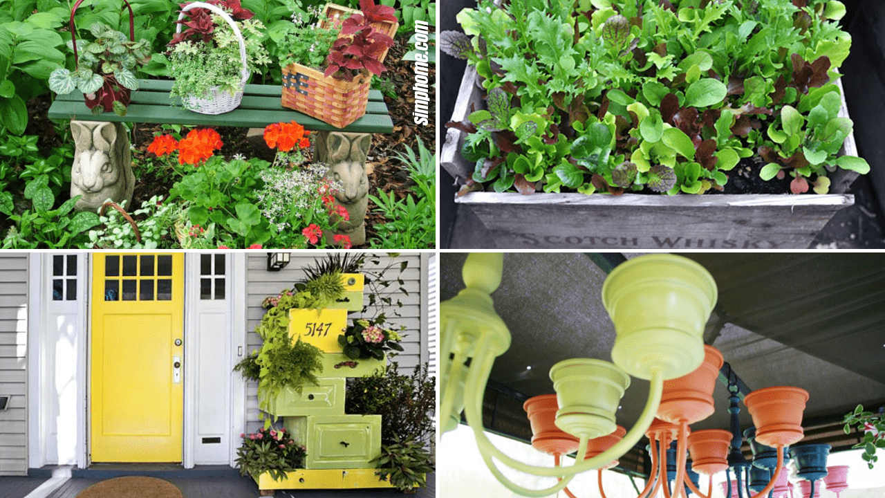 Simphome.com 10 Recycled Planter Ideas for your Garden