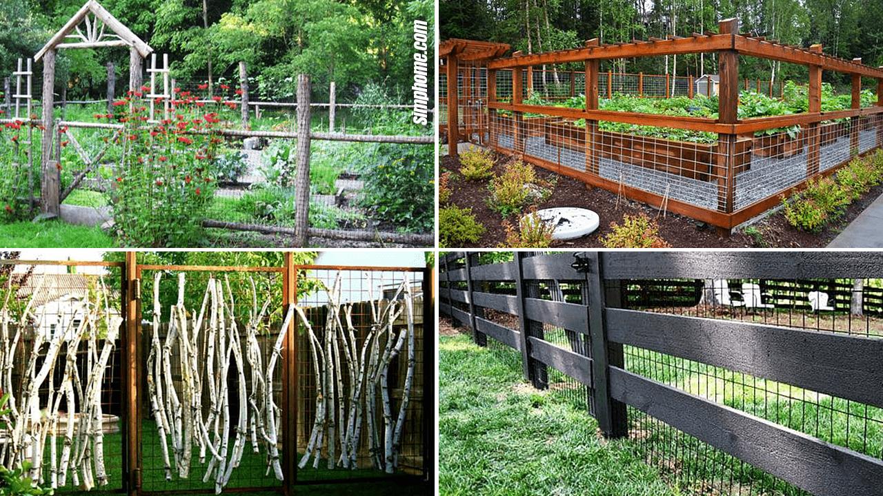Simphome.com 10 Wire Garden Fencing Ideas