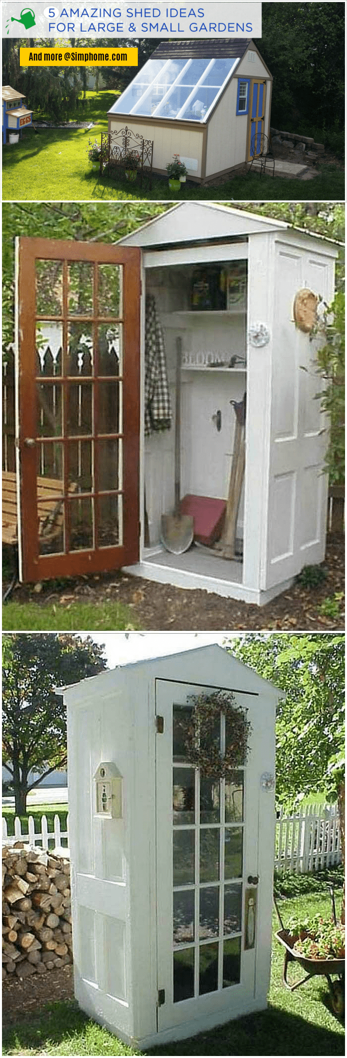 Simphome.com A unique small storage shed ideas for your garden outdoor spaces